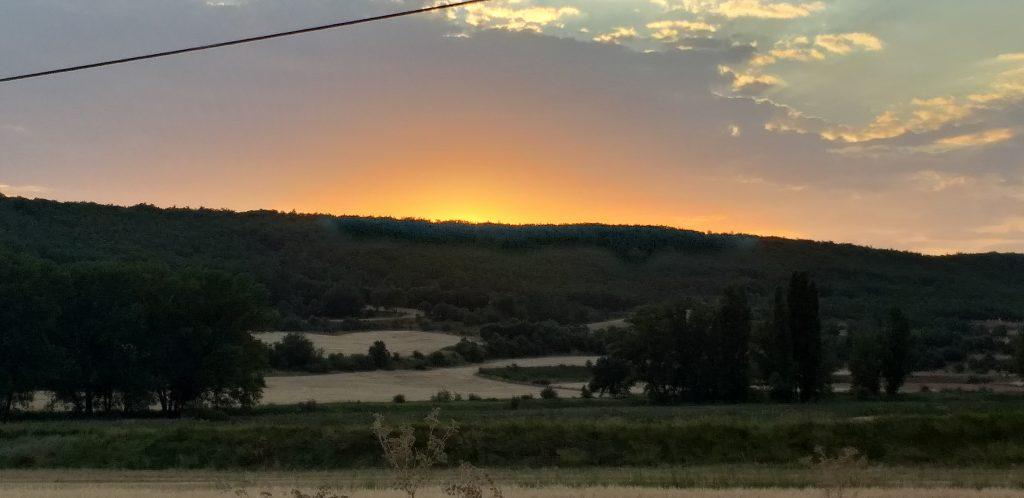 puesta de sol en Torrelapaja