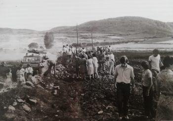 momentos después del incendio en Torrelapaja